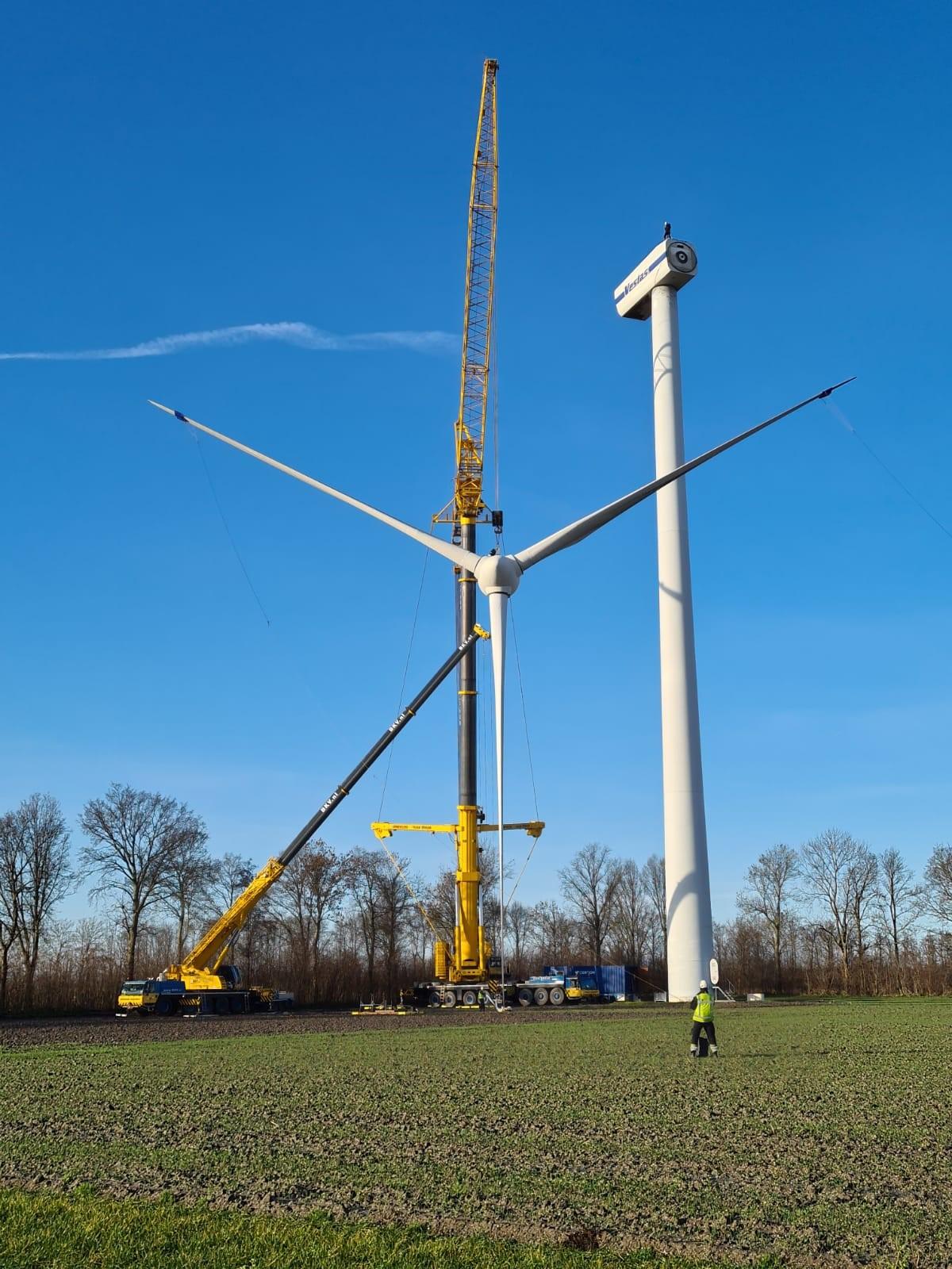 Verwijderen van bestaande windmolens