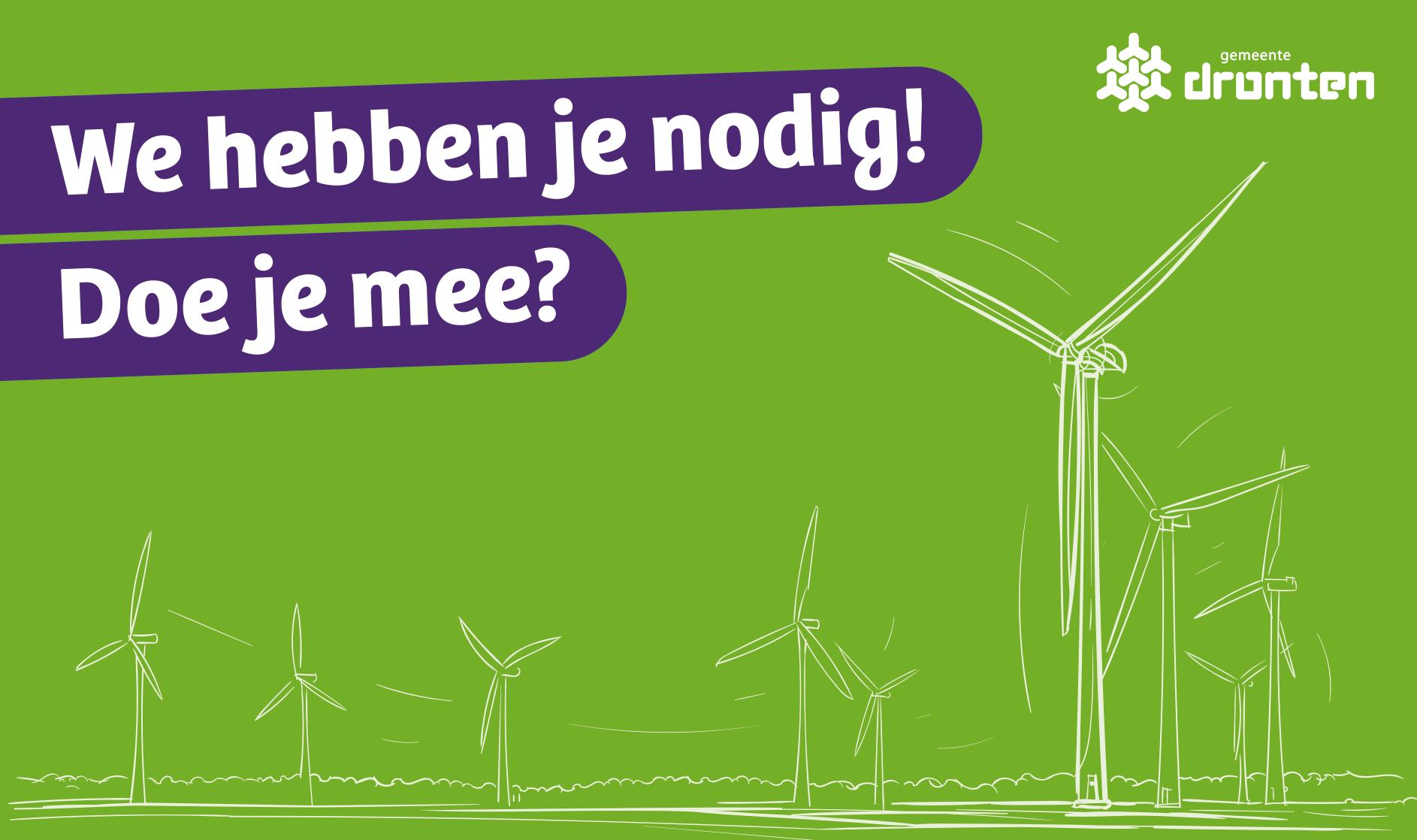 Windplanblauw stelt een deel van de opbrengst ter beschikking voor projecten in de omgeving
