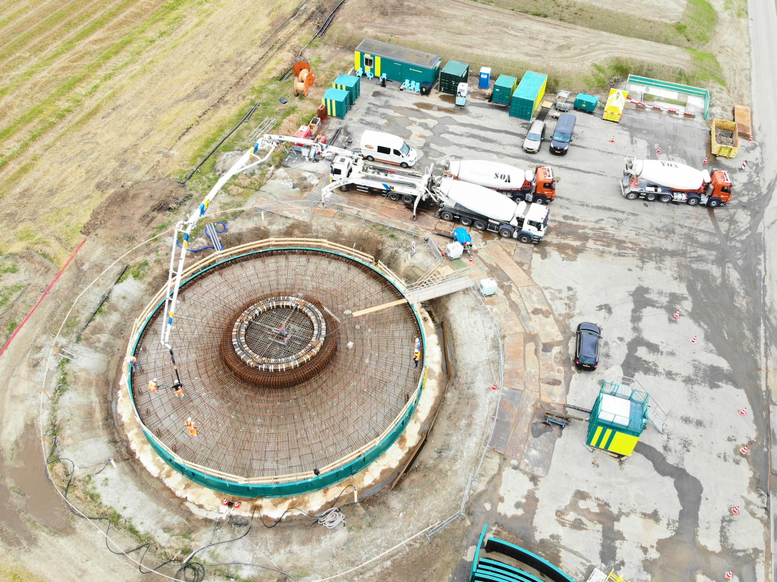 Eerste betonstort fundatie Windplanblauw is een feit