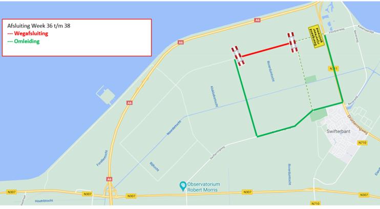 Gedeeltelijke afsluiting Visvijverweg tot en met 24 september